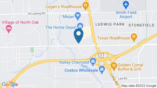 Best Western Plus Fort Wayne Inn & Suites North Map