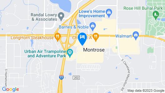 Hotel Akron Northwest - Copley Map