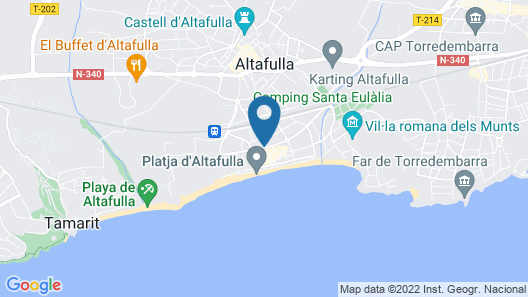 Altafulla Mar Hotel Map