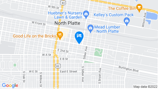 Americas Best Value Inn North Platte Map