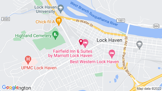 Fairfield Inn & Suites by Marriott Lock Haven Map