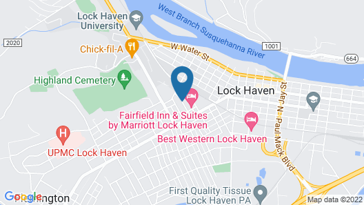 Fairfield Inn & Suites by Marriott Lock Haven Map