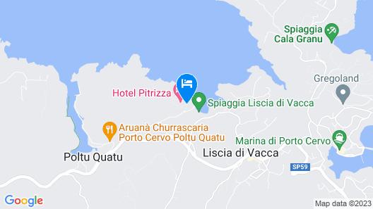 Hotel Pitrizza, a Luxury Collection Hotel, Costa Smeralda Map