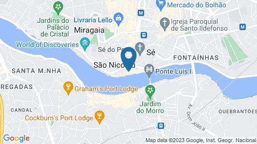 Ribeira do Porto Hotel Map