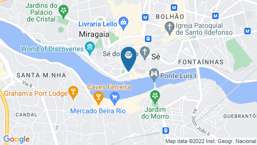 The House Ribeira Porto Hotel – S.Hotels Collection Map