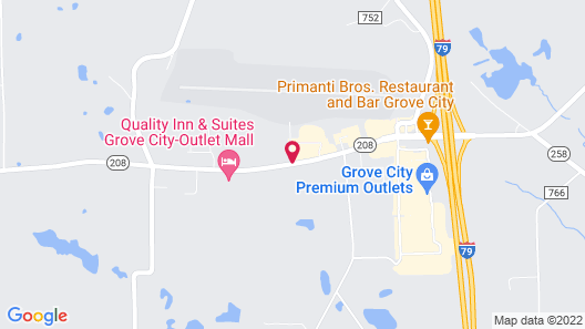 Super 8 by Wyndham Grove City Map
