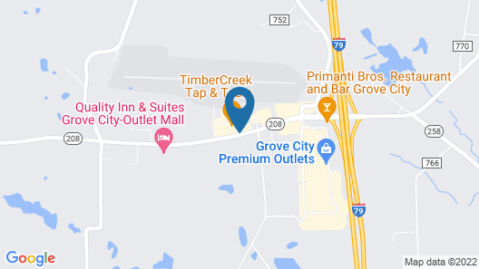 Hampton Inn & Suites Grove City Map