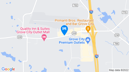 Hampton Inn & Suites Grove City Map
