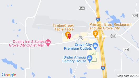 Holiday Inn Express Grove City, an IHG Hotel Map