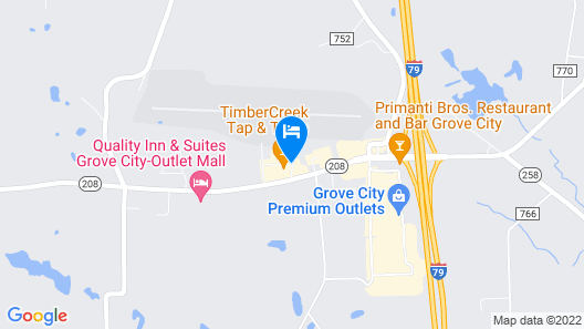Candlewood Suites Grove City - Outlet Center Map