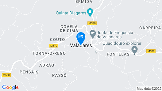 casa do sol (apartment located in a private house in total dependence) Map