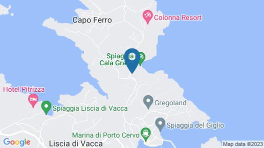 Grand Hotel in Porto Cervo Map