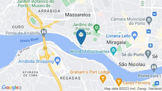 Vila Galé Porto Ribeira Map