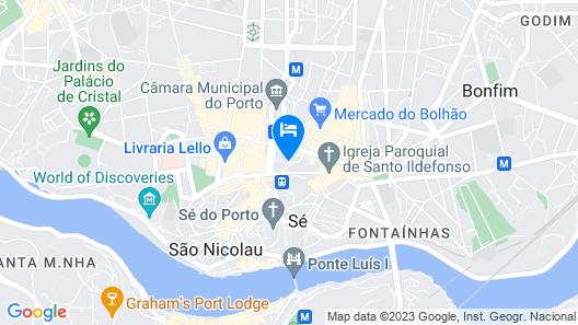 Eurostars Porto Centro Map