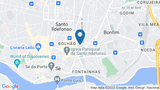 Aparthotel Oporto Alves da Veiga Map