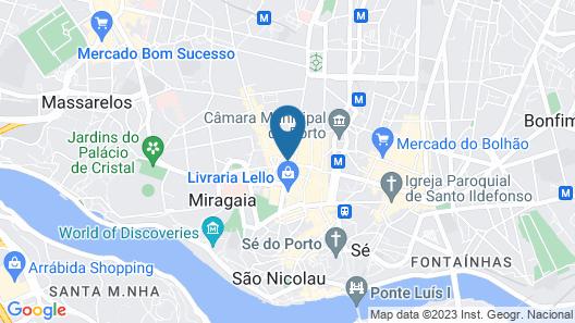 Hotel Moon & Sun Porto Map