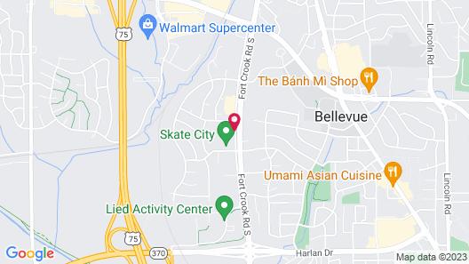 Rodeway Inn Bellevue Map
