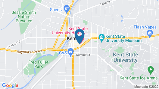 Kent State University Hotel and Conference Center Map