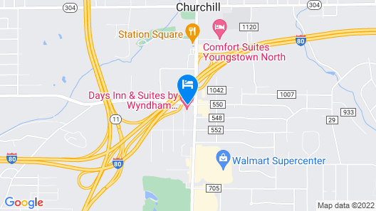 Days Inn & Suites by Wyndham Youngstown / Girard Ohio Map