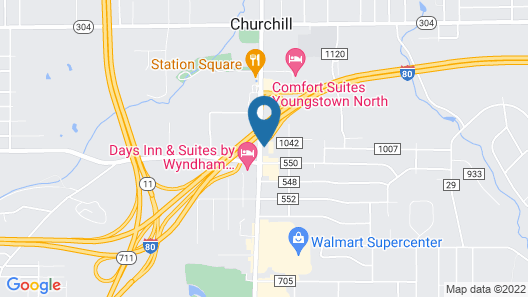 Quality Inn & Suites North Youngstown Area Map