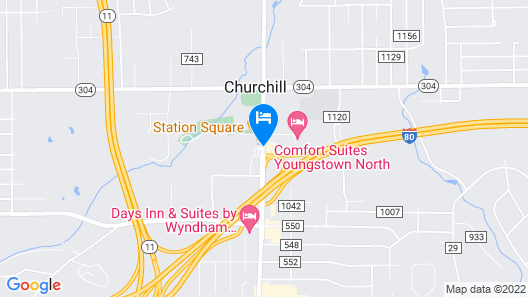 Motel 6 Youngstown, OH Map