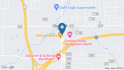 Comfort Suites Youngstown North Map