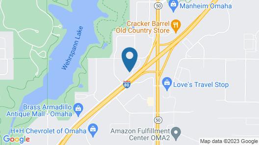 Home-Towne Lodge Omaha Map