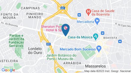 Crowne Plaza Porto Map