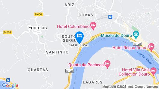 Casa do Salgueiral Douro Map