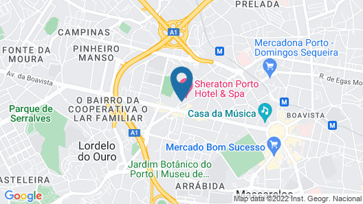 Sheraton Porto Hotel & Spa Map