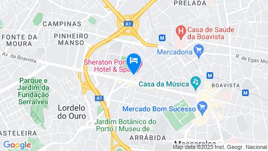 Sheraton Porto Hotel & Spa Map