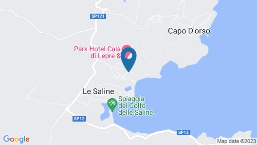 Le Saline Palau Map