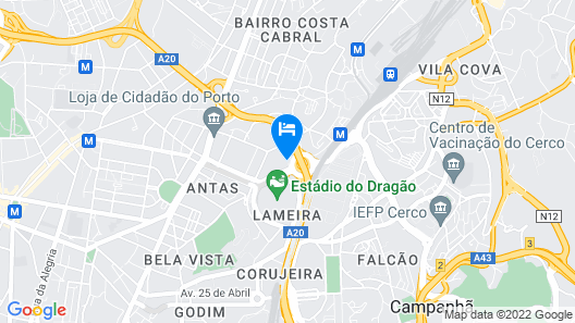 Liiiving In Porto | Antas Corporate Studio Map