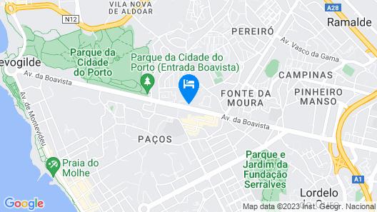 Circle Surfcamp - Porto Surf House Hostel Map