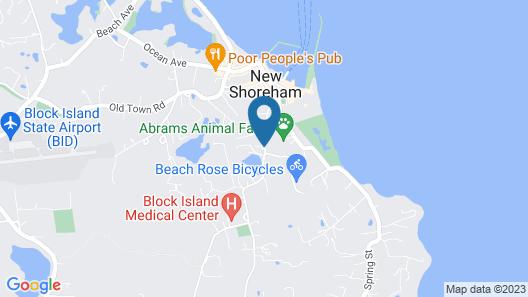 Block Island Accommodations Map