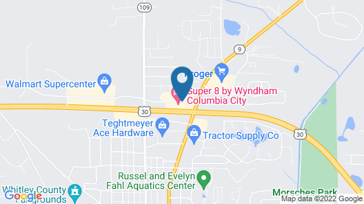 Super 8 by Wyndham Columbia City Map