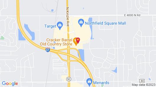 Hampton Inn Bourbonnais Kankakee, IL Map
