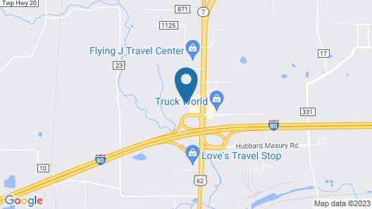 Best Western Penn-Ohio Inn & Suites Map