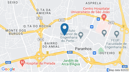 Belver Beta Porto Hotel Map