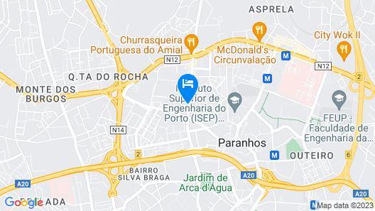 Belver Beta Porto Hotel Map