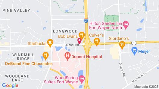 Best Western Fort Wayne I-69 North Map
