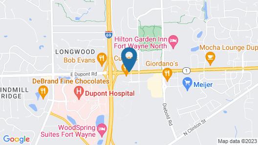 Hampton Inn Ft. Wayne/Dupont Road Map