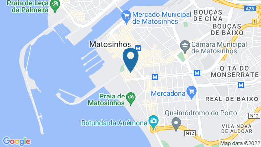 Eurostars Matosinhos Map