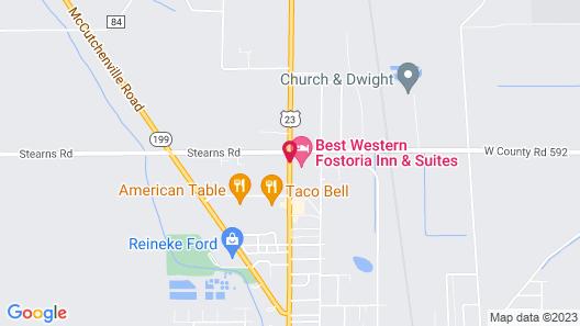Best Western Fostoria Inn & Suites Map