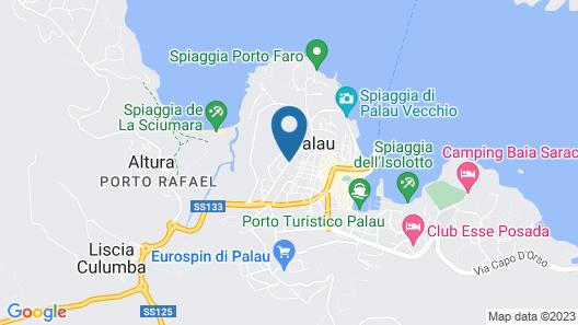 Palau City Hotel Map