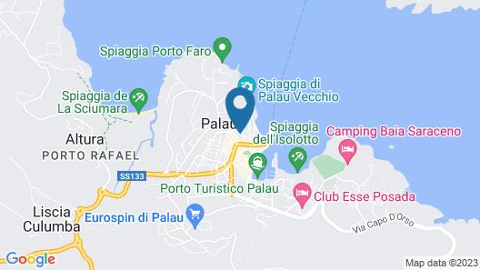 Hotel La Roccia Map
