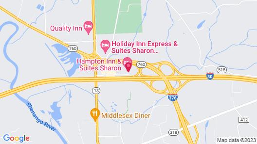 Hampton Inn & Suites Sharon, PA Map