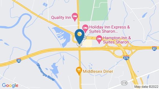 Super 8 by Wyndham West Middlesex/Sharon Area Map
