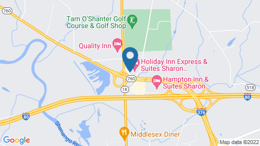 Holiday Inn Express & Suites Sharon-Hermitage, an IHG Hotel Map