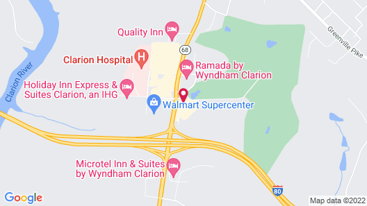 Motel 6 Clarion, PA Map